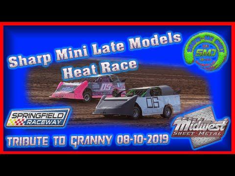 SO3-E394 Sharp Min Late Heat Races - Tribute to Granny Springfield Raceway 08-10-2019 #DirtTrack