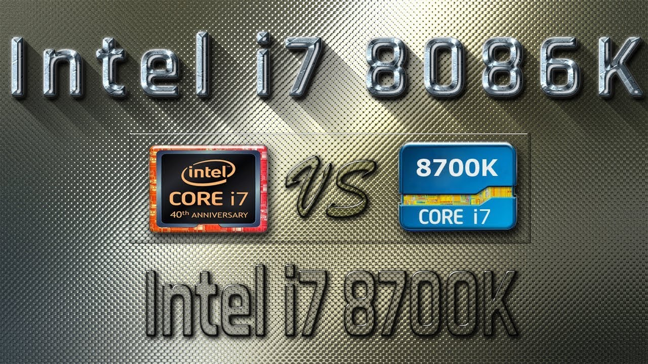 I7 8086k Vs I7 8700k Benchmarks Gaming Tests Review Comparison