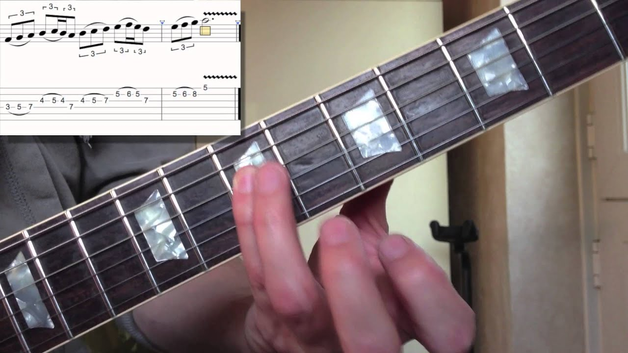 guitar lesson smooth major scale run in c youtube