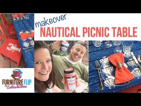Cathie & Steve Furniture Flip - Nautical Dining Table Set