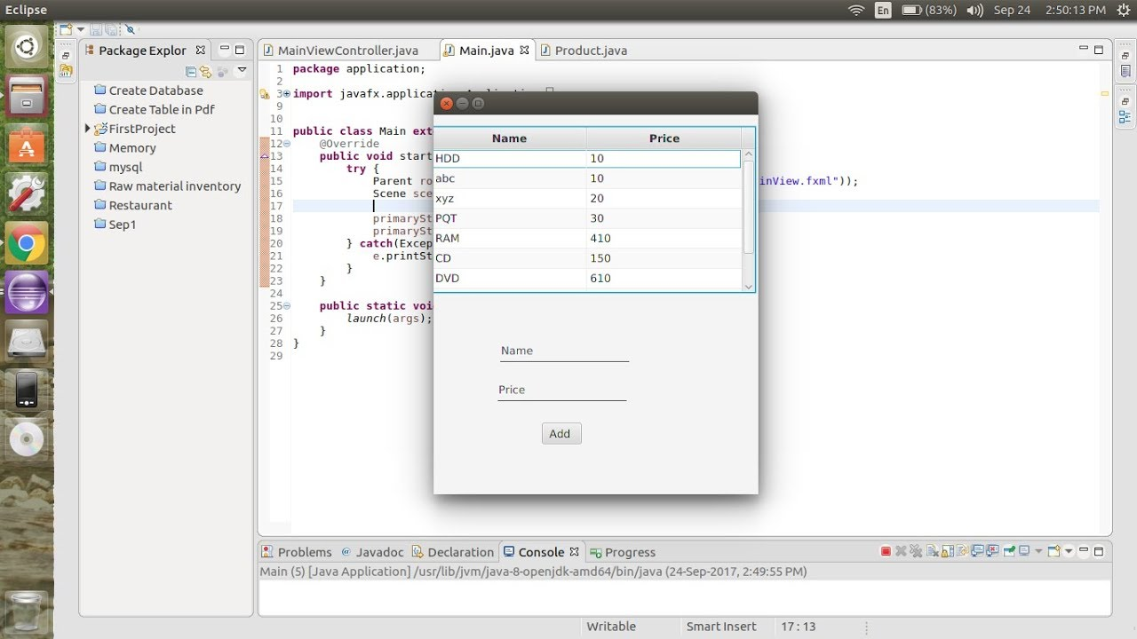 Javafx add row to table view youtube javafx add row to table view baditri Images