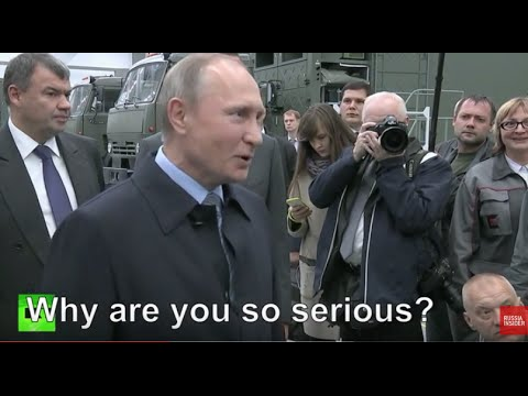 VIRAL: Putin jokes with overly