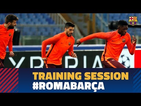 Roma - barÇa | last training session before champions league match