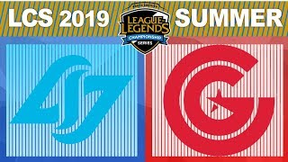 CLG vs CG, Game 2 - LCS 2019 Summer Playoffs Third Place - Counter Logic Gaming vs Clutch Gaming G2
