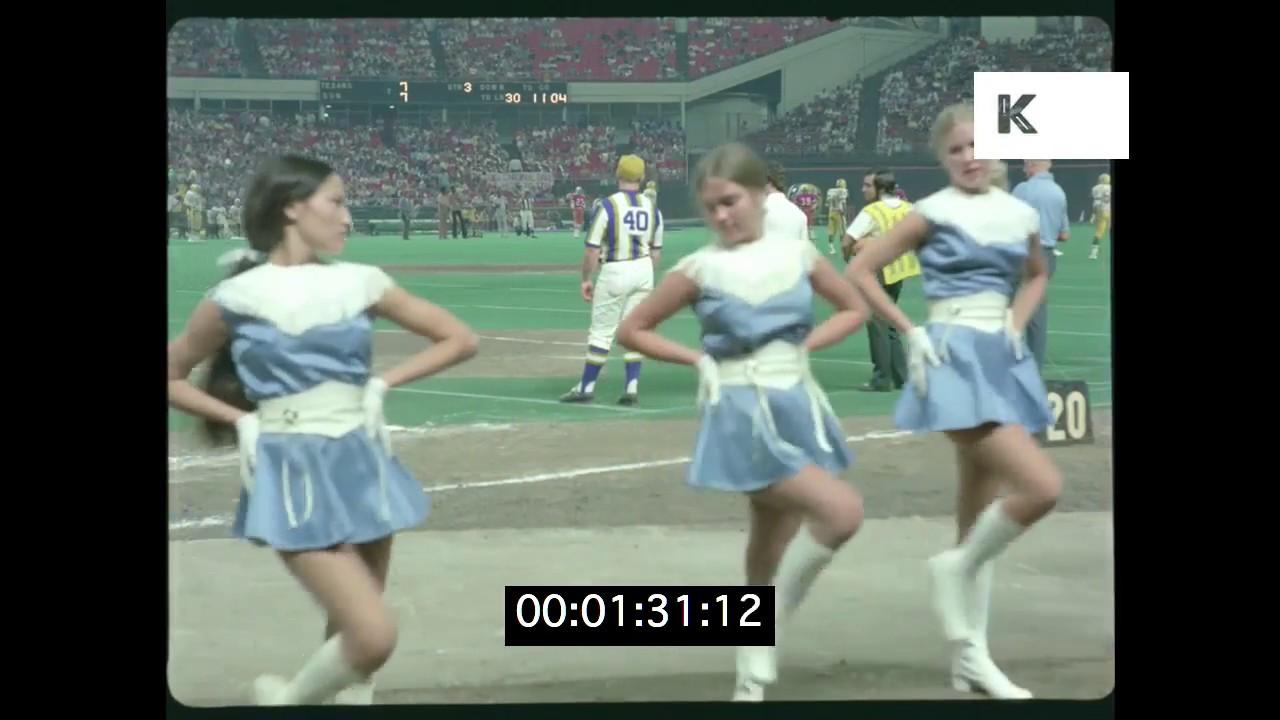 1970s American Football Cheerleaders, HD from 35mm - YouTube