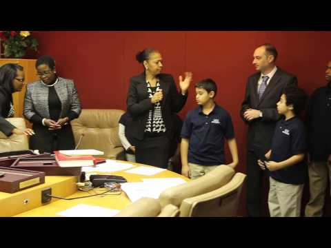 GEE White Academy received a Spirit of Detroit Award at the Detroit City Council Meeting