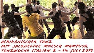 Afrikanischer Tanz in Italien mit Jacqueline Moesch Mampuya