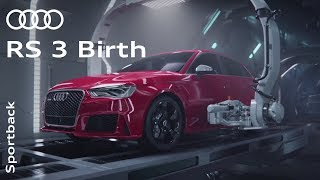 "Audi RS 3 ""Birth"" - Full HD Version(The new Audi RS 3 is born. Turn up the volume and watch"