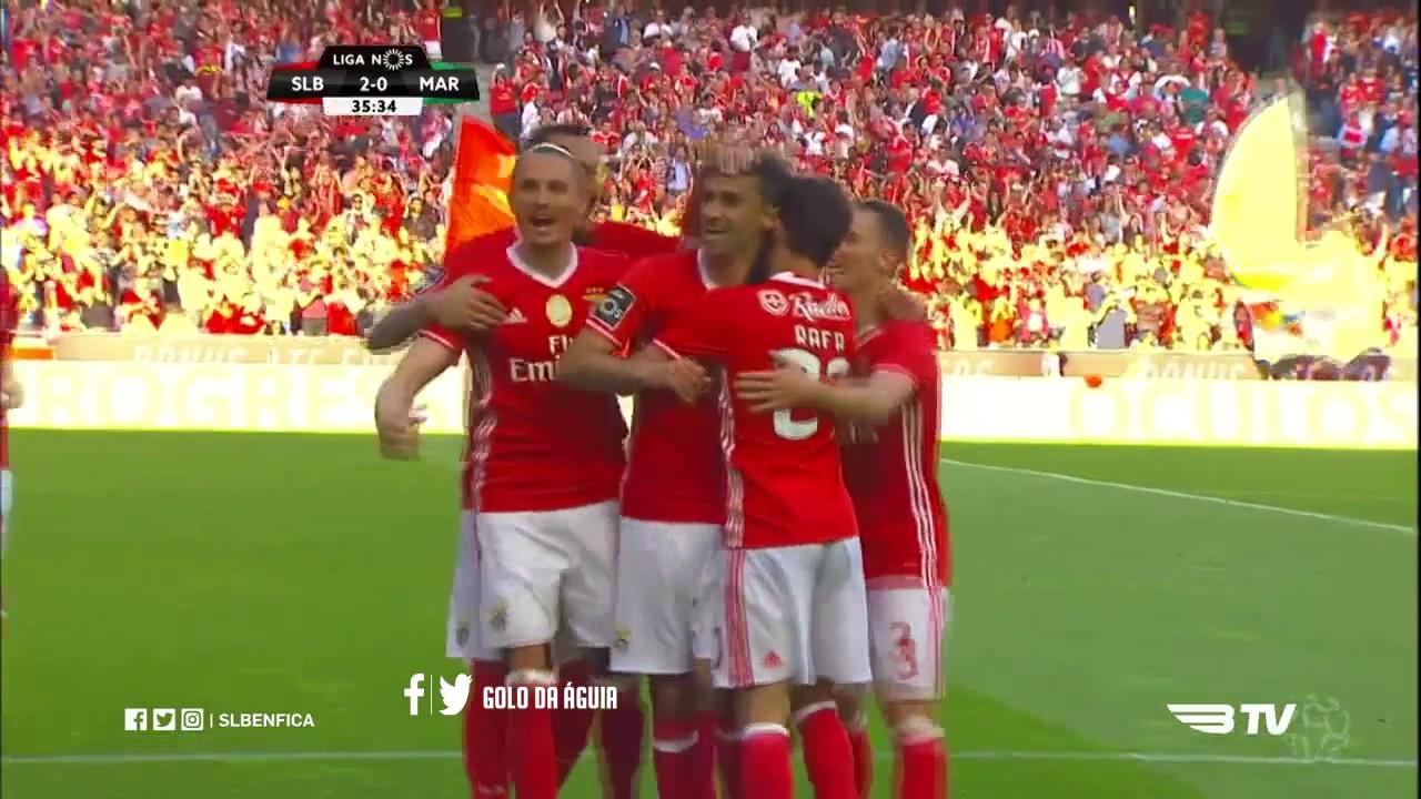 Sl Benfica 3 0 Cs Marítimo Golos Com Relato Antena 1