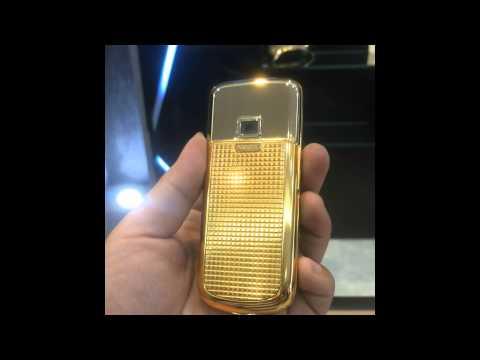Nokia 8800 mạ vàng khắc họa tiết Cloud De Paris