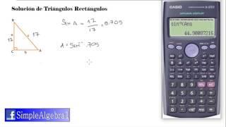 Solución de triangulos rectangulos   Ejemplo 1   SimpleAlgebra1