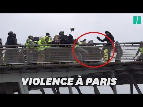 Gilets jaunes: un policier roué de coups devant l'Assemblée