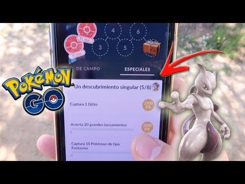 ¡COMPLETANDO INVESTIGACIONES ESPECIALES 3 y 4 en Pokémon GO! Se acerca MEW! [Keibron] thumbnail