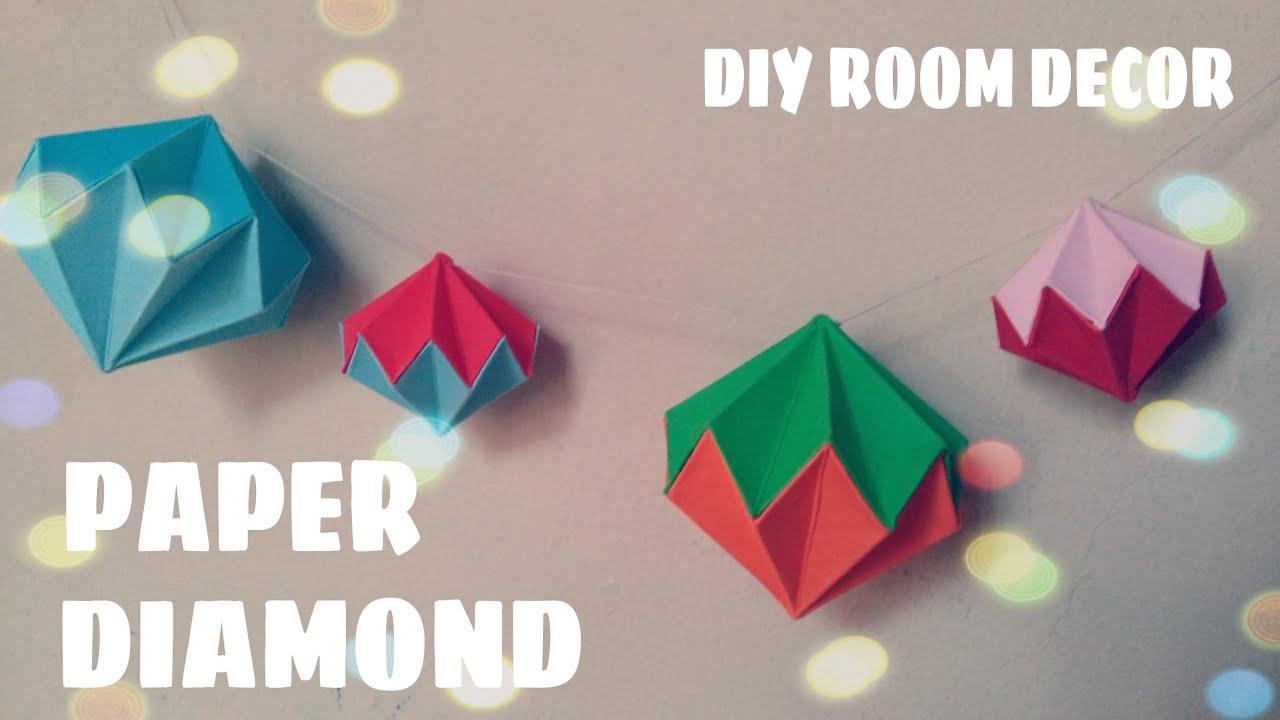 Origami Diamond (Room Decoration)   Origami Easy