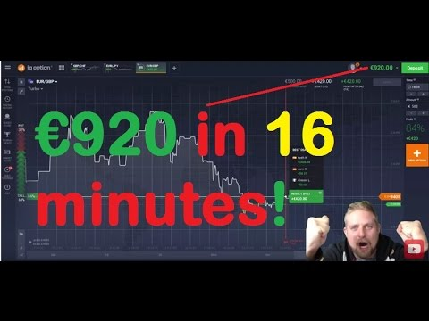 IQ Option €100 to €920 in 16 minutes REAL MONEY TEST