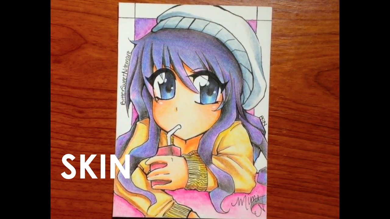 How to Color Manga Skin with Cheap Colored pencils [Pt. 1 ...