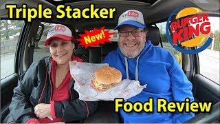 Burger King® | TRIPLE Stacker King™ 🥓🍔👑🧀 | Taste Test & Review | JKMCraveTV