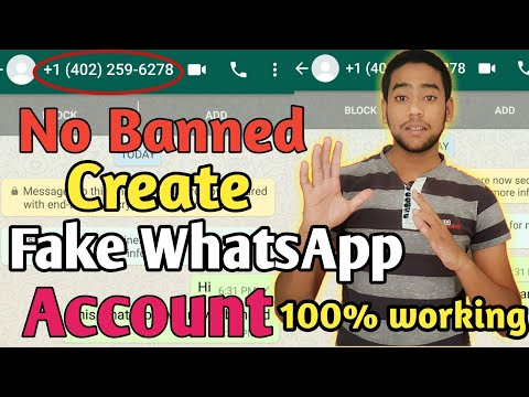 How to Create Whatsapp Account With Fake Number 2019 | Make Whatsapp Without Number | Fake Whatsapp