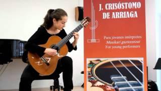 Saudade nº 3 (R. Dyens) Idoia Aparicio. Concurso Arriaga 2012 Bilbao 1st Prize 3th Level