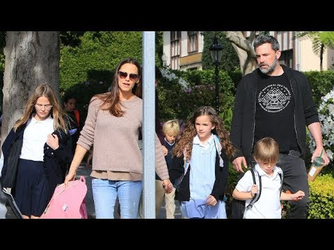 Ben Affleck And Jennifer Garner Looking Tense While Spending Time With Kids In Brentwood