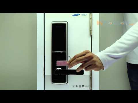 видео: Врезной электронный дверной замок samsung-shs-h620/shs-h625/shs-5120xbk/en