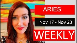 ARIES WEEKLY LOVE YOU GOT THIS ALL UNDER CONTROL!!! NOV 17 TO 23