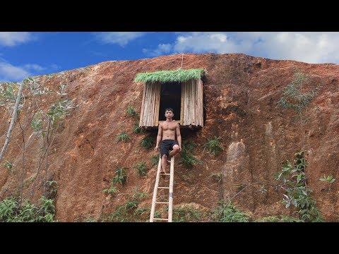 Build Undergroud Hut On The Cliff To Avoid Wildlife