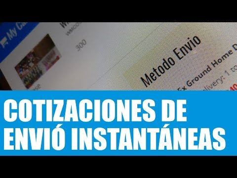 HOW TO Get Real Time Shipping Quotes (Spanish)