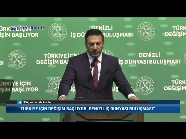 Pamukkale TV-Bakan Berat Albayrak Denizli'de  09.03.2020