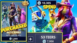 Fortnite BATTLE BUNDLE Saison 6 Battle Pass 'achat 90 Tier