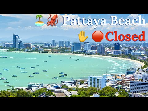 Beach Closed in Pattaya Thailand