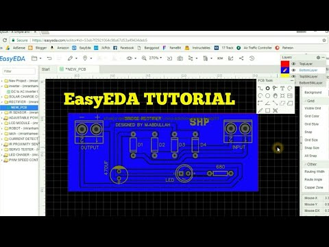 HOW TO DESIGN A CIRCUIT AND PCB ON EASYEDA , TUTORIAL VIDEO ?