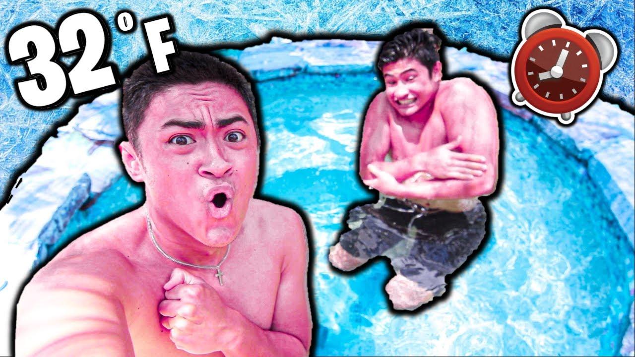 LAST TO LEAVE ICE BATH WINS $1000 (Challenge)