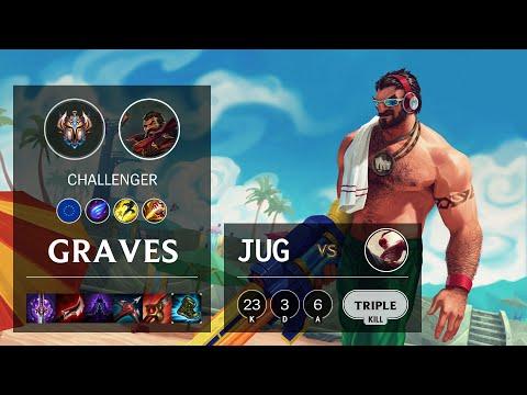 Graves Jungle vs Lee Sin - EUW Challenger Patch 10.13