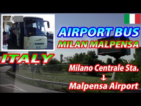 MALPENSA BUS Milano Centrale Station → Malpensa Airport (Passenger's View)