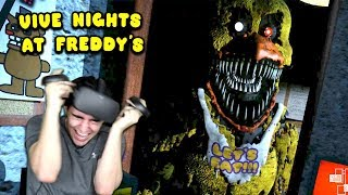 CHICA IS AFTER ME IN THIS INSANE VR FNAF GAME!! - Vive Nights at Freddy's (Oculus Rift)