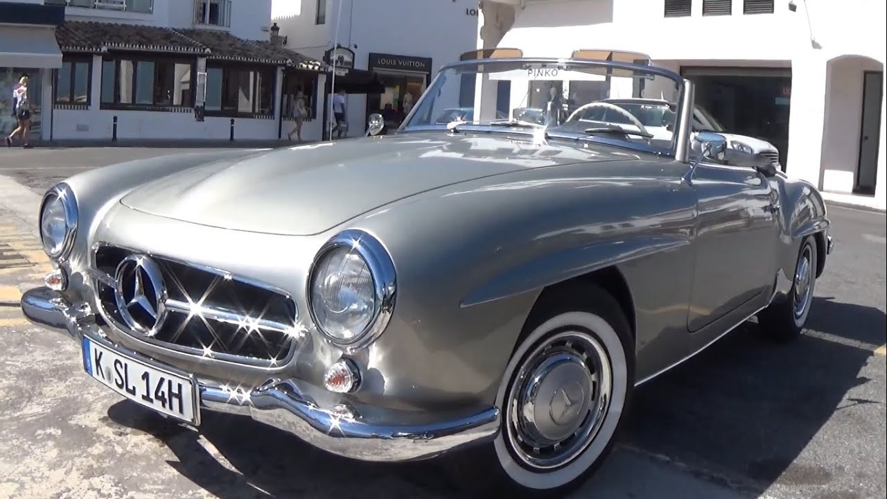 1955 mercedes 190 sl w121 bii youtube. Black Bedroom Furniture Sets. Home Design Ideas