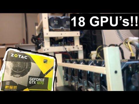 18 GTX 1070 Mini Mining Setup!!