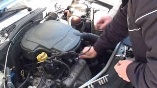 Замена клапана холостого хода на Renault Logan