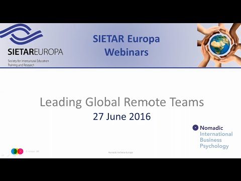 SIETAR Europa Webinar: Leading global remote teams