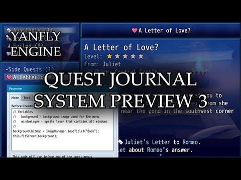 Quest Journal System Preview 3 - RPG Maker MV
