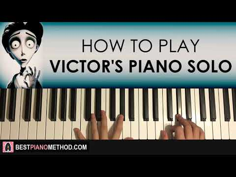 HOW TO PLAY - Corpse Bride - Victor's Piano Solo (Piano Tutorial Lesson)