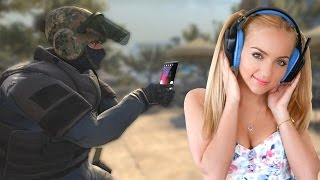 GIRL 1V1S ME FOR HER NUMBER ON CS:GO