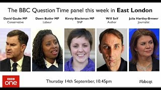 Question Time 14/9/17: public sector pay, Brexit regret, Grenfell Tower, Rees Mogg and religion