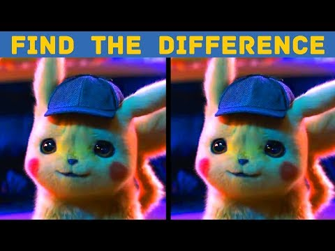 POKEMON Detective Pikachu Trailer Movie Photo PUZZLE Find the DIFFERENCE