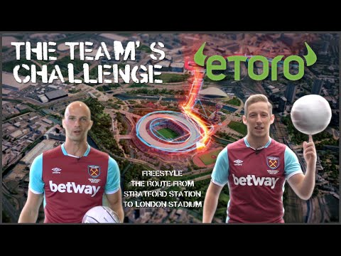 FOOTBALL FREESTYLERS SHOW ROUTE TO LONDON STADIUM ⚽️🎥