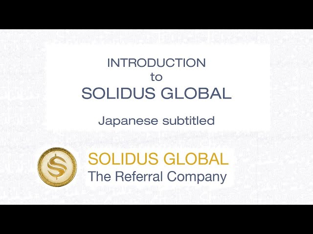 Introduction - Solidus Global - Japanese CC