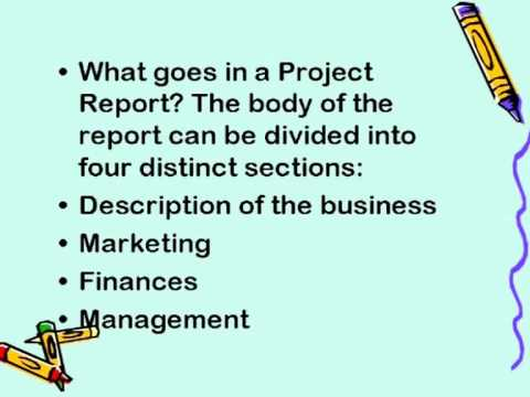 starting a business writing the project report eng youtube