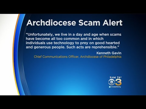 Archdiocese Of Philadelphia Warns Of Scam