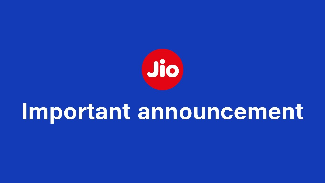 Reliance Jio Important Update